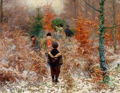 Tree Felling ~ Hans Andersen Brendekilde ~ (Danish, 1857-1942)