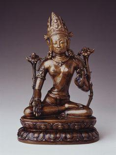 Seated Tara, 12th-13th century,bronze  25 cm (9 ¾ in), Tibet