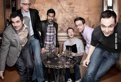 Ty Burrell, Anziz Ansari, Ted Danson, Neil Patrick Harris, Ed Helms, and Jim Parsons. How did this even happen?
