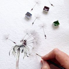 Image result for how to draw dandelion