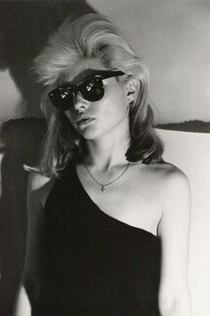 Debbie Harry. I wore a shirt just like this when I saw her at CBGBs, circa 1976!