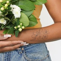 7fc88c92a9bc4 Aeridin by humblebee is a Flowers temporary tattoo from inkbox Inkbox Tattoo,  Nature Tattoos,