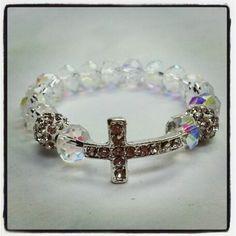 #baby #communion #christening #baptism  #gift #bracelet #elegant #cross