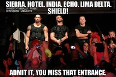 Roman Reigns, Dean Ambrose, and Seth Rollins preferences. How about we all just forget about Seth stabbing Dean and Roman in the back? Dean Ambrose Shield, Roman Reigns Dean Ambrose, Wwe Dean Ambrose, Le Shield, The Shield Wwe, Wwe Quotes, Wwe Funny, Funny Jokes, Wrestling Memes