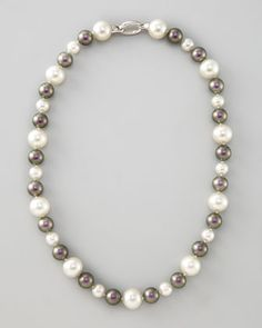 White/Tahitian Pearl Necklace by Majorica at Neiman Marcus.