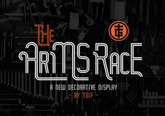 The Arms Race typeface for only $9 | Designs.net