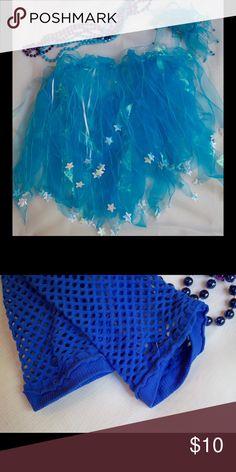 Flirty Blue Accesories Fun blue skirt, hair tie, wristlets, and beads. Costumes Halloween