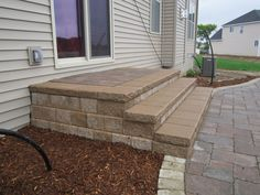Brick Paver Patio Steps Amenities include heated floors, paver patio with built-in grill and more Custom built by Bellefleur, this home is . Patio Steps, Brick Steps, Outdoor Steps, Small Outdoor Patios, Small Backyard Patio, Diy Patio, Backyard Ideas, Design Patio, Veranda Design