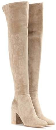Gianvito Rossi Rolling 85 suede over-the-knee boots #aff