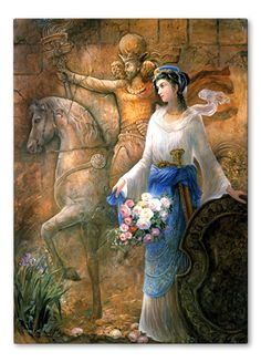 """241 C.E. - Azadokht Shahbanu was the Queen of the Persian Sassanid Empire and the wise wife of Shapour the Great who established Jondi Shahpur university, a major center of higher learning. Azadokht was not a military woman but she was very skilled with her sword.The name """"Azadokht"""" means: """"Free girl."""""""