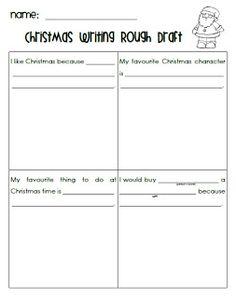 First Grade Garden: Freebie Christmas writing