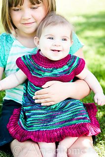 Maxi Top/Dress for babies - free - DK weight - US 4(3.5mm, US 6(4.0mm) - newborn to 24 months