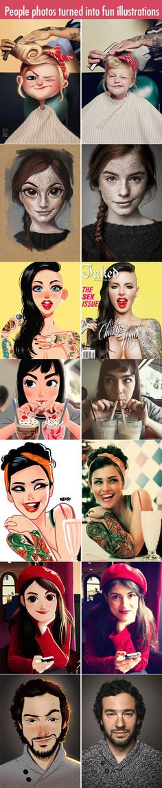An incredible artist turns people photos into fun illustrations