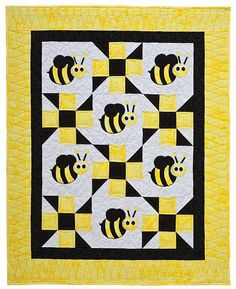 Looking for your next project? You're going to love Bella Bee Baby Quilt by designer Steph Marie. - via @Craftsy