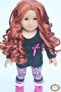 This is our Ginger curls wig.  Superior hair quality than other doll wigs.  Insanely soft and thick curls. .