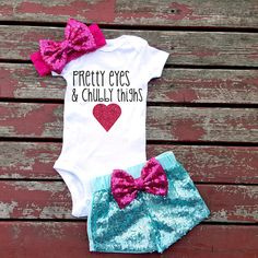 Pretty Eyes And Chubby Thighs Baby Girl by GLITTERandGLAMshop