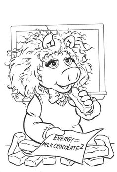 coloring page muppets famous people zweinstein