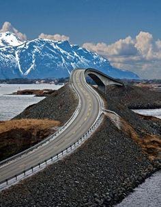 The Drunk Bridge, Norway. - this looks fun!