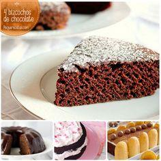 Bizcocho de chocolate: ¡4 recetas ideales para golosos!