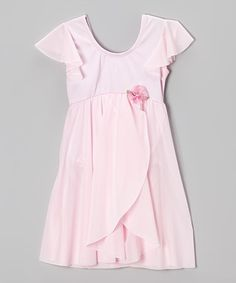 Another great find on #zulily! Pink Angel-Sleeve Dress - Girls by Curtain Call Costumes #zulilyfinds