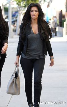 kim kardashian. easy weekend look