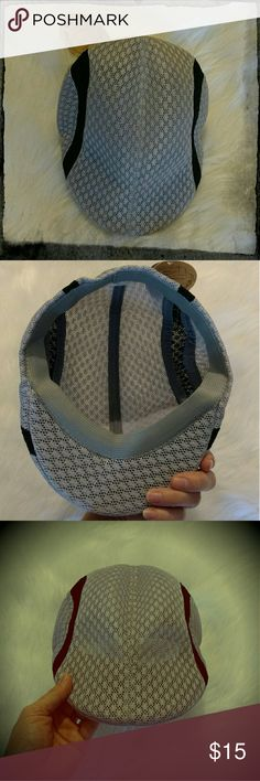 Fashion cap (mens) This hat is style and comfort in one!! Similar to the golf course style with a little added sexy flare. Extremely comfortable and breathable. One size fits most. New with tags. From a pet and smoke free home. 65% cotton & 35% polyester. The inside of the hat is lined with an elastic type sweat band for a more convenient fit. Light gray and black in color Other