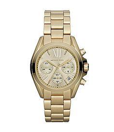 Michael Kors Gold Mini Bradshaw Chronograph Bracelet Watch #Dillards