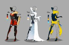 Outfit design - Zodiacs - 3 - closed by LotusLumino on DeviantArt