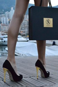These glamorous pumps look so high-end!