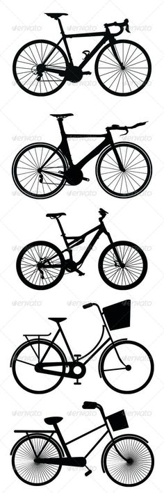 Bicycle Silhouettes - Sports/Activity Conceptual