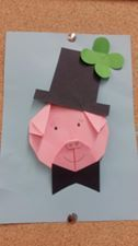 Pig Crafts, Paper Crafts, Origami, Pig Art, Diy Cards, Farm Animals, Happy New Year, Advent, Projects To Try