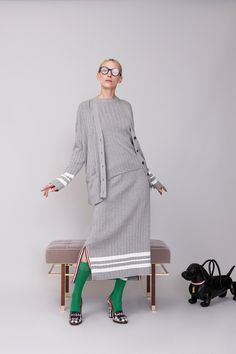 Thom Browne Resort 2019 collection, runway looks, beauty, models, and reviews.