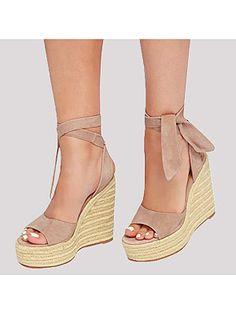 c2a21293649 Plain Velvet Peep Toe Casual Date Wedge Sandals  WedgeHighHeels   WedgeSandals  Boho  Festival