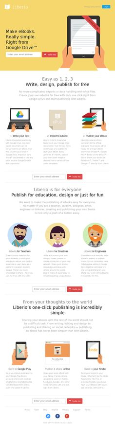 http://liber.io/ #flat #webdesign