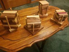 Hardwood coaster sets