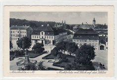 Alte AK Neustrelitz i. M. Marktplatz mit Blick auf das Schloss