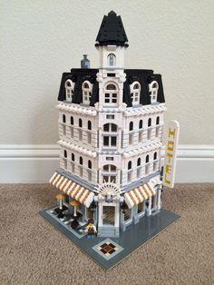 My first custom build. Lego modified Cafe Corner.