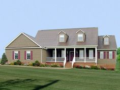 Country Style House Plans | ... photos may vary slightly. Refer to the floor plan for accurate layout