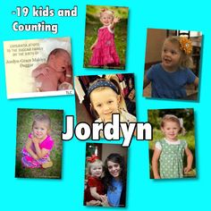 Jordyn at all stages :)