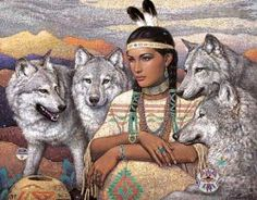 Jigsaw Puzzles - Wolf, Indian, & Native American images