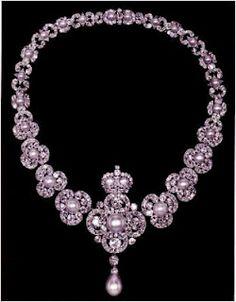 Queen Victoria's Golden Jubilee Necklace. Queen Elizabeth II frequently wears this necklace.