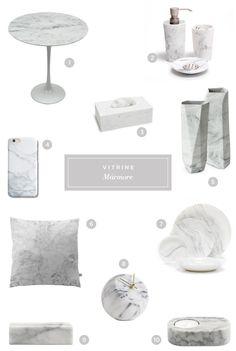 10 peças de decoração com efeito mármore