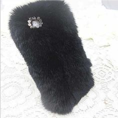 | New | SALE SALE Fluffy iPhone 6+ case SALE!!! Brand new black fluffy iPhone 6+ case, perfect everyday case. Fluffy furry background with small crystals and bow accents around the camera. BUNDLE & SAVE 25% ❌ TRADES ❌ Accessories Phone Cases