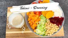 Tahini Dressing - KlaraMaria-Haug Tahini Dressing, Vegan Gluten Free, Vegan Vegetarian, Dressings, Vegetable Dips, Buddha Bowl, Vegan Dishes, Nutrition, Stuffed Peppers