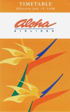 Aloha Airlines Timetable July 1998