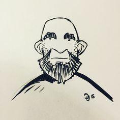 More catchup for #inktober. Day 10: Random bald guy with a beard. #kuretake #usa #dearjetpens #manuscriptinktober @manuscriptpenco