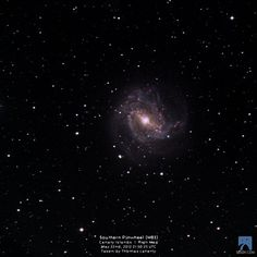 Slooh member mission hot out of the oven  - M83 Southern Pinwheel Galaxy - only 12 Million Light Years away! T1 Slooh Canary Observatory - May 22, 2012