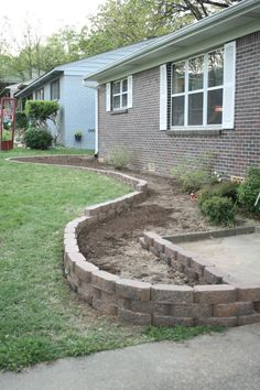 Great step by step post on building a flower bed (Round Cement Step)