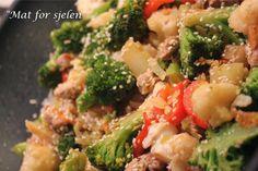 Mat for sjelen. Garam Masala, Wok, Squash, Chili, Vegetables, Eggplant, Red Peppers, Pumpkins, Gourd