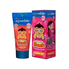 Aquawhite presents Chhota Bheem Toothpaste for Kids from age 2-14 years. aquawhite is the exclusive license holder of Chhota Bheem. A Chill Gum (Bubble Gum) flavored toothpaste especially formulated for the taste palate of children.